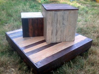 Cr ation design mobilier palettes stages menuiserie en - Meuble en palette de recuperation ...